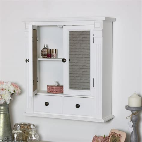 Bathroom Wall Cabinets With Mirror by White Mirrored Bathroom Wall Cabinet Flora Furniture