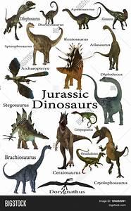 Jurassic Dinosaurs 3d Illustration Image U0026 Photo Bigstock