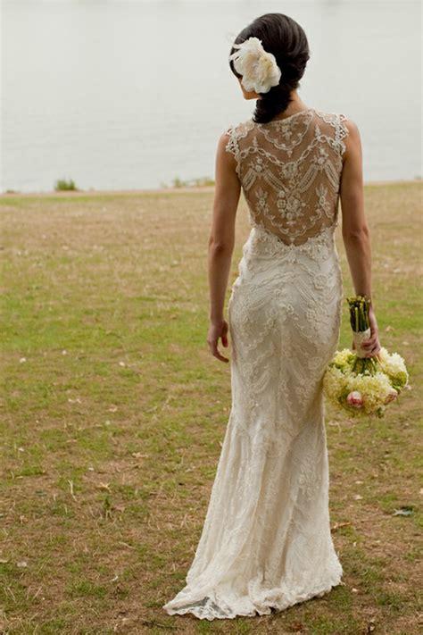 10 Gorgeous Lace Back Wedding Dresses