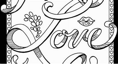 Coloring Pages Words Curse Printable Inspiration Adults