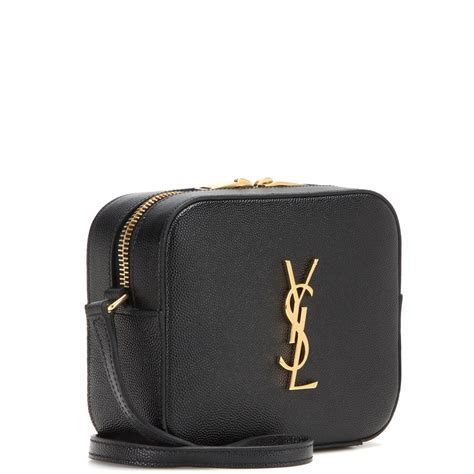 lyst saint laurent classic monogram leather shoulder bag