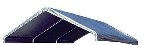 heavy duty mil valance replacement canopy tarp carport cover silver ebay