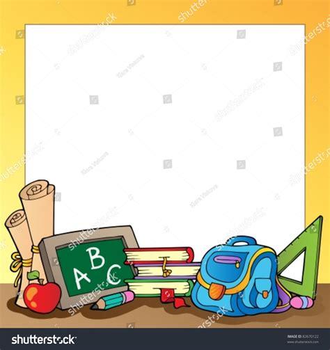 frame school supplies 1 vector illustration stock vector 82670122