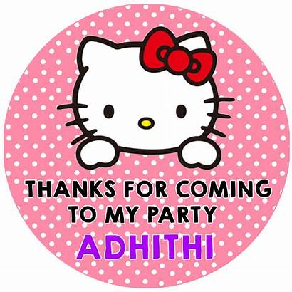 Thank Hello Kitty Tags Birthday Pcs