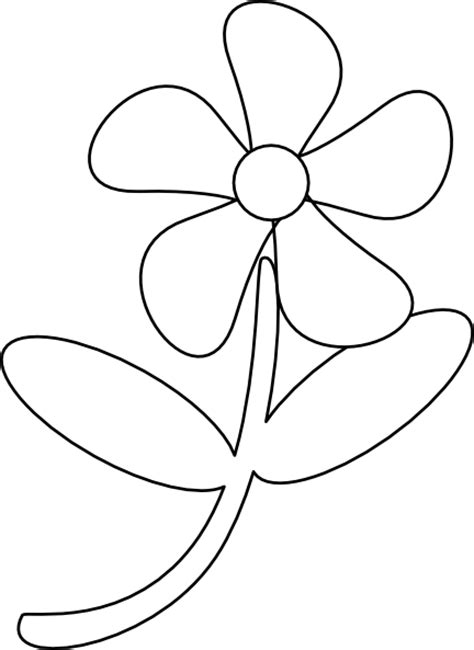 black and white flower clipart black white flower clip at clker vector clip