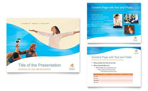 physical therapist powerpoint  template design