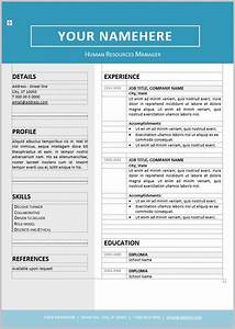 resume templates sample editable in eps