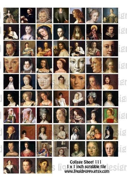 digital collage sheet famous women