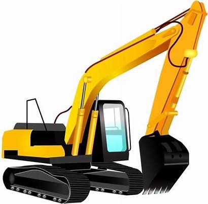Excavator Vector Clipart Bulldozer Backhoe Caterpillar Silhouette