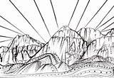Coloring Rock Canyon Sunset Drawing Climber Climbing Vegas Las Designlooter Mountain 94kb 393px Nevada Tree sketch template