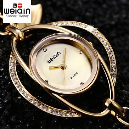 Watches Bracelet Ladies Crystal Weiqin Bangle Silver