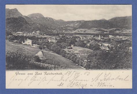 ak bayern gru 223 aus bad reichenhall gelaufen 1903 183 tilman dohren briefmarken m 252 nzen
