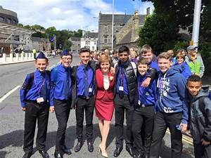Boys' Brigade at the opening of the Scottish Parliament ...