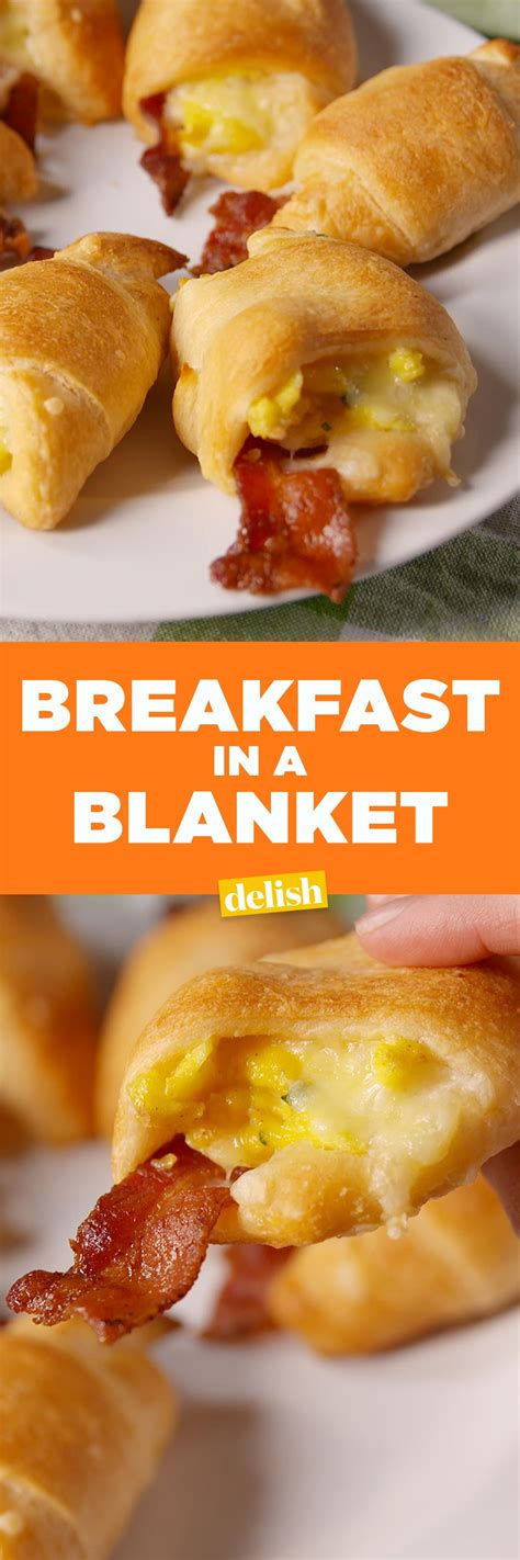 breakfeast recipies breakfast in a blanket recipe mcmuffin delish and blanket