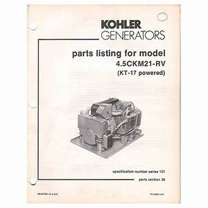 Original 1981 Kohler Generator Parts Listing For Model 4