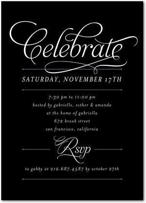 Regal Request Corporate Event Invitations in Black
