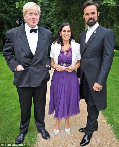 Boris Johnson with his wife Marina and Evgeny Lebedev