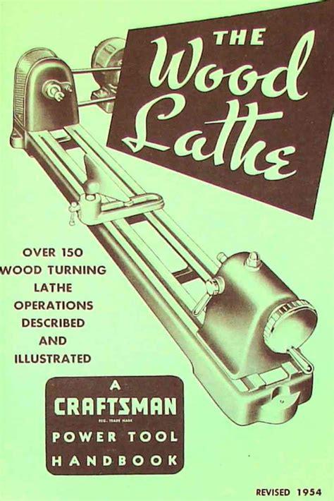 craftsman wood lathe  handbook operators manual