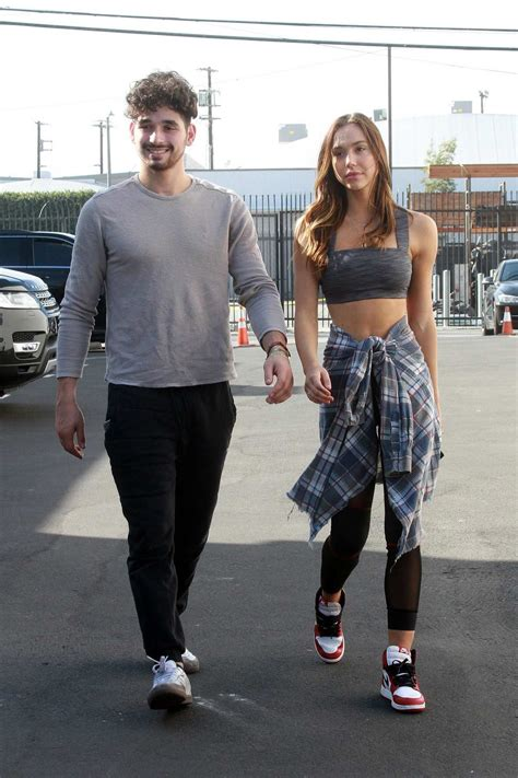 Alexis Ren And Alan Bersten Are Seen On Sunday Arriving To