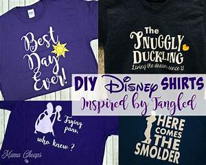 DIY Disney Shirts Inspired by Tangled Movie Mama Cheaps