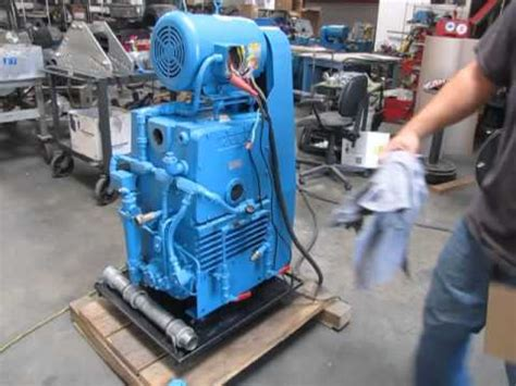 sold kinney tuthill ktc 112 rotary piston vacuum pump 107 cfm 7 5 hp 230 460v stokes youtube