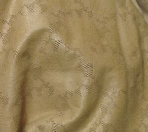 Leather Cowhide Fabric by Emb31 Leather Cow Hide Cowhide Craft Fabric Beige Embossed