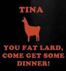 Napolean Dynamite talking to his llama, Tina. # ...