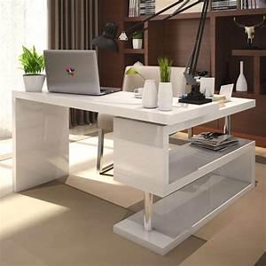 White, Modern, Desk, For, Stylish, Multipurpose, Furniture