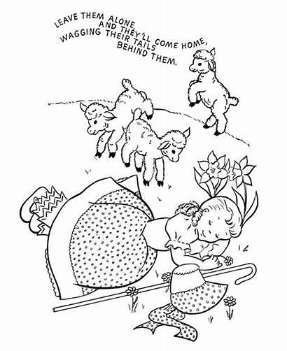 Nursery Peep Bo Coloring Rhymes Rhyme Pages