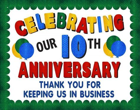 Make A Business Anniversary Poster Or Sign