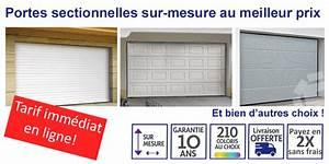 Porte de garage sectionnelle avec prix porte fenetre pvc for Porte de garage avec prix porte intérieure sur mesure