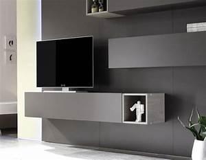 Meuble Tv Mur : television suspendue mur maison design ~ Teatrodelosmanantiales.com Idées de Décoration
