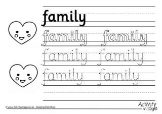 baby handwriting worksheet