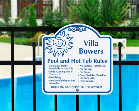 Funny Pool, Humorous Swimming Pool Signs  Best Prices