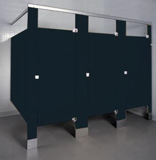 phenolic color  toilet partitions unoclean