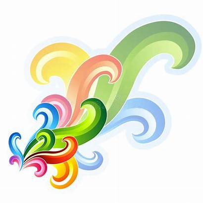 Swirl Colourful Elements Vector Funky