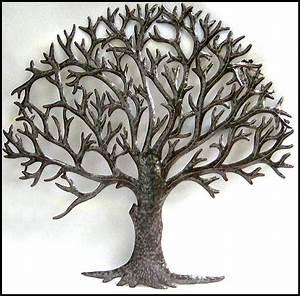 Metal tree wall art decor