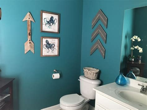 teal bathroom rustic arrows teal bathroom blue bathroom