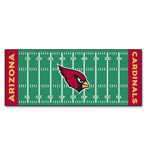 fanmats arizona cardinals 2 ft 6 in x 6 ft football field rug runner rug 7343 the home depot