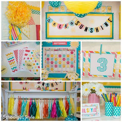 Sunshine Classroom Theme By Schoolgirl Style Schoolgirlstyle