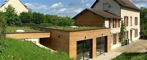 maison ossature bois avec toit terrasse boismaison With toit en verre maison 1 choisir un toit terrasse ou un toit plat pour son extension