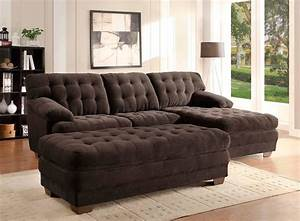 Chocolate microfiber sectional sofa he739 fabric for Chocolate brown microfiber sectional sofa