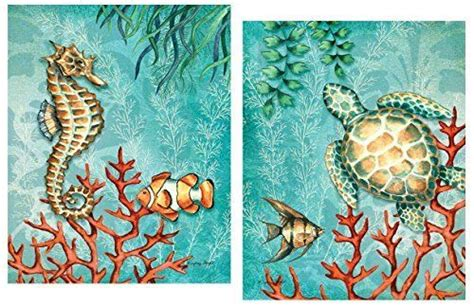 sea life turquoise and orange under the ocean fish turtle