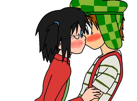 Chavo + Chilindrina Primer Beso By Digiphantom1994 On