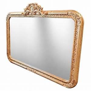 Grand Miroir Baroque : grand miroir rectangulaire baroque de style louis xv rocaille ~ Teatrodelosmanantiales.com Idées de Décoration