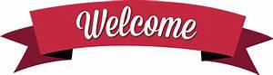 Classic Red Welcome Banner transparent PNG - StickPNG