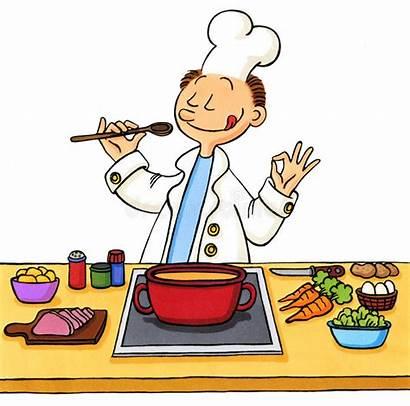 Cartoon Cook Kitchen Illustration Cooking Taste Board