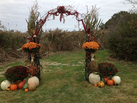 Arch I Decorated For A Pretty Fall Wedding Flower