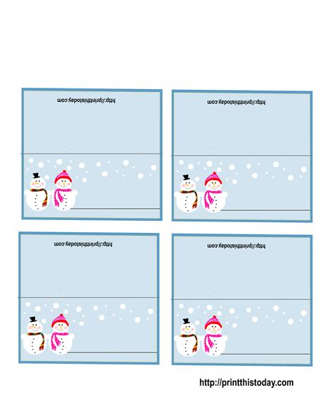 Place Card Templates Freechristmas Template Free Printable Place Cards