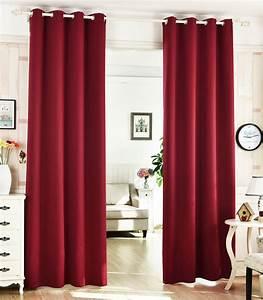 Rideau Occultant Thermique : 1x rideau occultant avec oeillets rideau thermique isolant ~ Premium-room.com Idées de Décoration